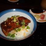 美酒美食 平田 - ◆ ご飯、鰻茶浸け。この日はちょうど、土用の丑の日。ウナギ料理を期待していただけにテンションアップ