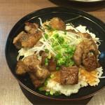 赤シャモジ - 2016/08/09 牛ステーキ丼