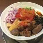 赤シャモジ - 2016/08/09 冷製ステーキ和え麺(大盛)