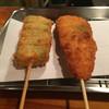 三 - 料理写真:オクラ(130円)と、ササミシソカツ(150円)