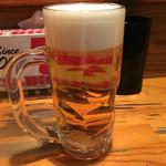 三 - 生ビール(430円)
