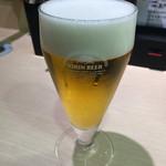 廻転寿司 海鮮 - みさきまぐろきっぷのセットの発泡酒