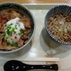 Ajikaidou - 料理写真:クーポン利用 米の娘ぶた丼&半そば