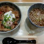 味街道 - 料理写真:クーポン利用 米の娘ぶた丼&半そば