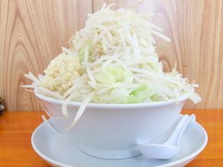 ラーメン長嶋 - 中ラーメン300g+野菜増し+ニンニク
