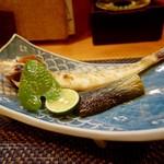 なか井 - [2016/07]久美浜産きす塩焼き 茄子の煮浸し付