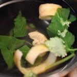 うな川 - 肝吸い(うなぎ定食)