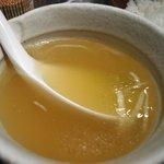 麻辣麺 雷伝 - シメのスープ