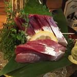 和びすとろ ぶり中野 - 徳島すだち鰤のお刺身800円(税込)