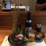 和びすとろ ぶり中野 - 中瓶ビール580円(税込)