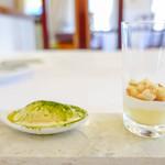 ラ・トゥーエル - レモングラスアイスととうもろこしムース