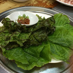 54703241 - サムギョプサルについて来る野菜
