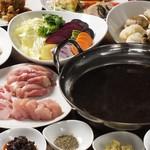 謝謝 - 茶っぱり鍋(写真はプーアル茶ベース)