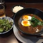 純喜 - カレーラーメン定食(800円)