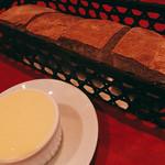 54708395 - パンとバターのセット500円