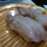 活魚廻転寿し 水天 - ◆鳥貝(370円)・・鳥貝特有の旨みには欠けますが、普通に美味しいですよ。