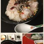 メルパルク - 鯛茶漬けと香物(阿蘇高菜と豆腐味噌漬け)