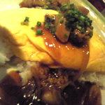 5471551 - 半熟オムレツ+鶏甘辛あん=親子丼
