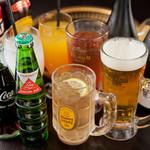 華ぱやん - 飲み放題はビール、サワー、焼酎、日本酒、ワインなど基本をしっかりおさえた全20種。