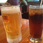 る・それいゆ - 生ビール500円とウーロン茶400円