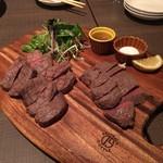 54714368 - 厚切り牛タンの柔らかステーキ、あいち牛 ランプ肉ステーキ