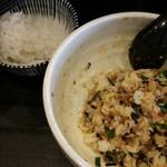 純也 - 追い飯はお茶碗8割ほどがちょうどよい。ちなみにごはんは2杯目