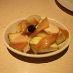 ラ・ロゼッタ - 水ナスと新生姜のサラダ