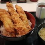 ぎおん 天ぷら 天周 - ミックス天丼 1700円