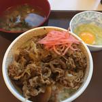54720623 - 牛丼たまごセット