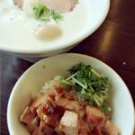 麺~leads~なかの 大和高田本店 - ミテコレ〜〜(^^) 綺麗なチャーシュー丼。