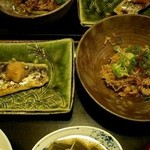 Oogi - さわらの西京焼きと牛肉しぐれ煮