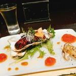 サケとスミビとロシュタン - 牡蠣の豚バラ巻き