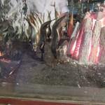 54726967 - 「原始焼」確かに「強火の遠火」で余分な水分がポタポタと・・・(^_-)-☆