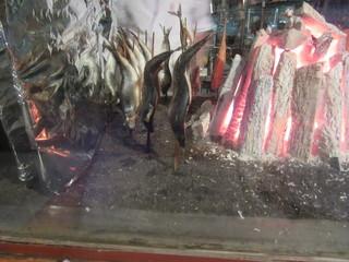 日本橋 墨之栄 - 「原始焼」確かに「強火の遠火」で余分な水分がポタポタと・・・(^_-)-☆
