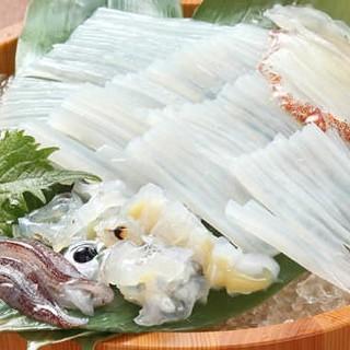 泳ぎ活イカ入荷率93%北海道直送の新鮮な海鮮や魚介が豊富