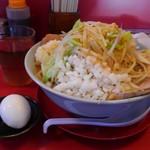 小十郎 - ラーメン:大盛り+豚マシ+刻みネギ