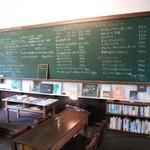cafe ねこぱん - 黒板がメニュー表。