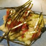 たつ郎寿司 - 鮪づけのワサビおろし 800円
