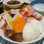 たつ郎寿司 - 金目鯛のかまと野菜蒸 1,600円