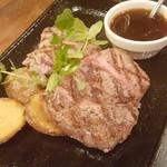 アサヒ クラフトマンシップブルワリー 東京 - 麦酒牛 サーロイン。