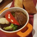 アサヒ クラフトマンシップブルワリー 東京 - 牛肉の煮込み。