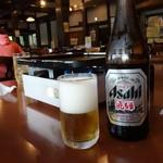 御食事処 あんき屋 - 中瓶ビール600円
