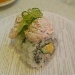 かっぱ寿司 - かっぱ寿司@都岡 かっぱのサラダロール 2015年12月