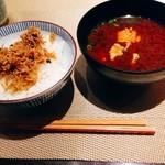 Wasaichuuboukatsura - じゃこご飯と鱧の赤だし