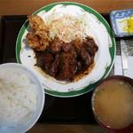 ぐりぐら  - 豚テキ、唐揚げ定食