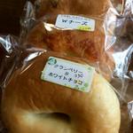 タビ カフェ - 天然酵母の自家製パン(ベーグル)。