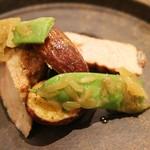 アラルデ - 肉 大和ポークロースの薪炭焼き