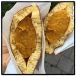 麻布野菜菓子 - 野菜餡のどら焼き258円。 かぼちゃ餡ぎっしり! 甘すぎず美味しい(๑>◡<๑)
