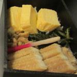 54764167 - だし巻きと穴子のお弁当