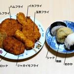 ピンポンパン - 料理写真:今回購入し持ち帰ったものをテキトー(×適当)な器に並べてみました(テキトー過ぎですがw)